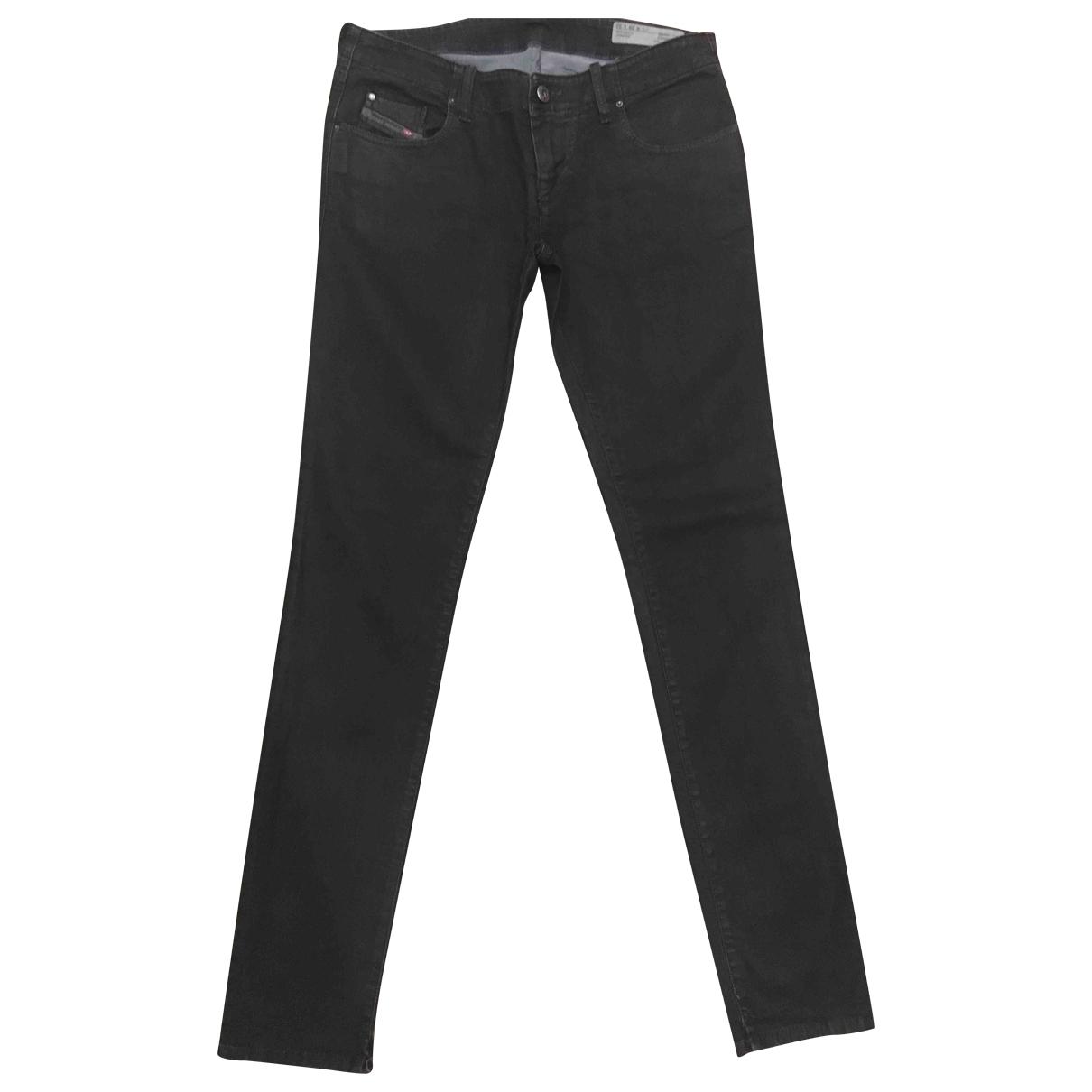 Diesel \N Black Cotton - elasthane Jeans for Women 29 US