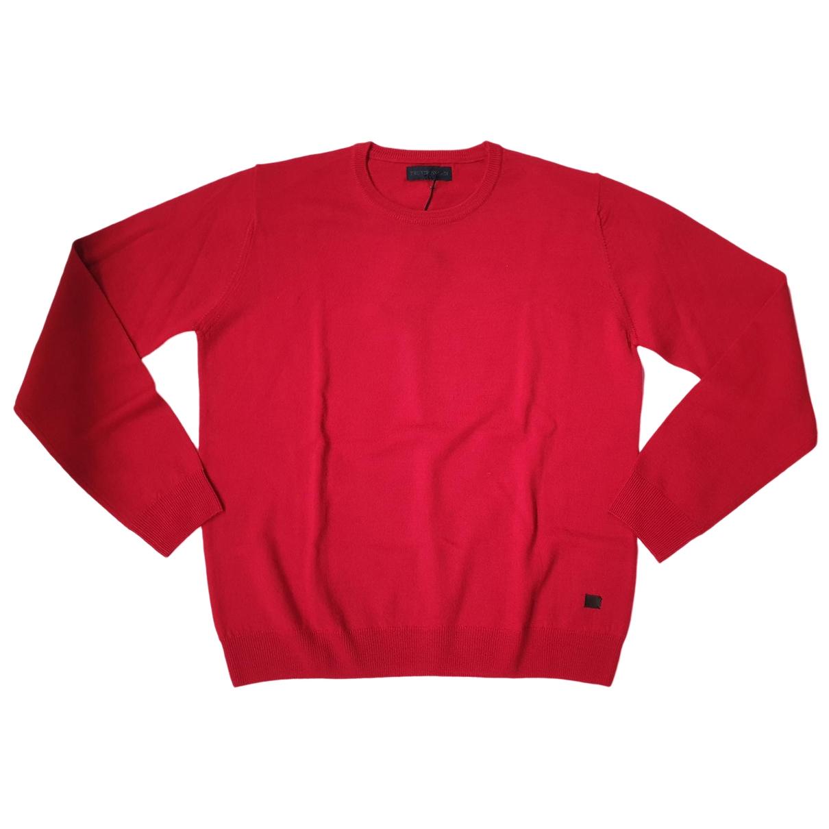 Trussardi \N Pullover.Westen.Sweatshirts  in  Rot Wolle
