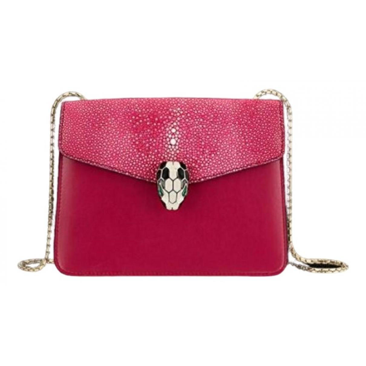 Bvlgari Serpenti Pink Leather handbag for Women \N