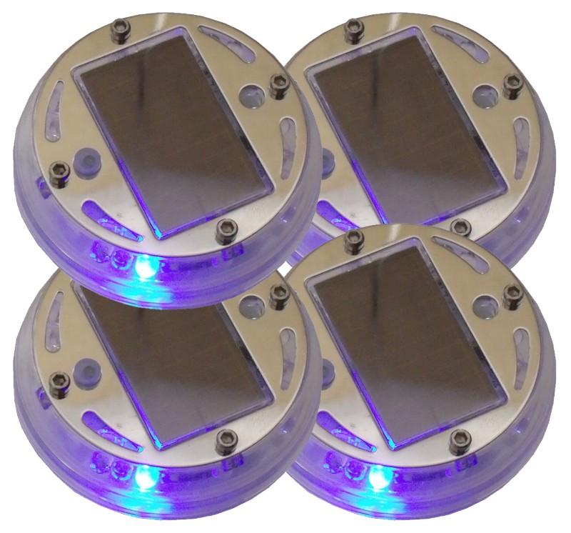 Race Sport Lighting RS-SOLAR-RGB RGB Multi-Color Solar Wheel Light Set of 4