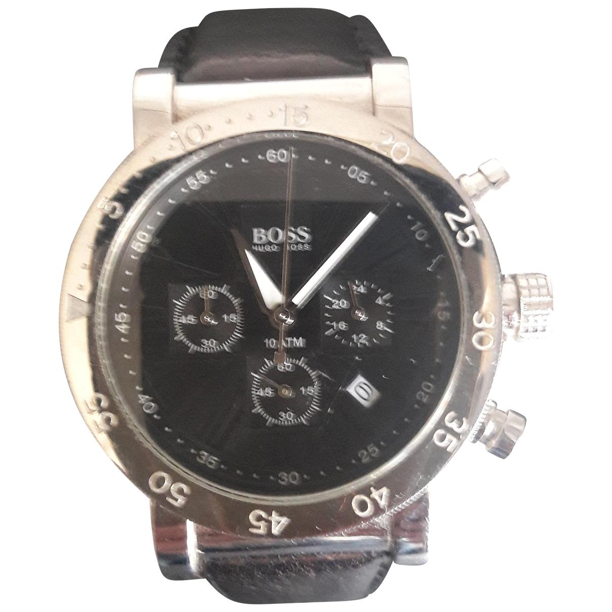 Hugo Boss \N Uhr in  Metallic Stahl