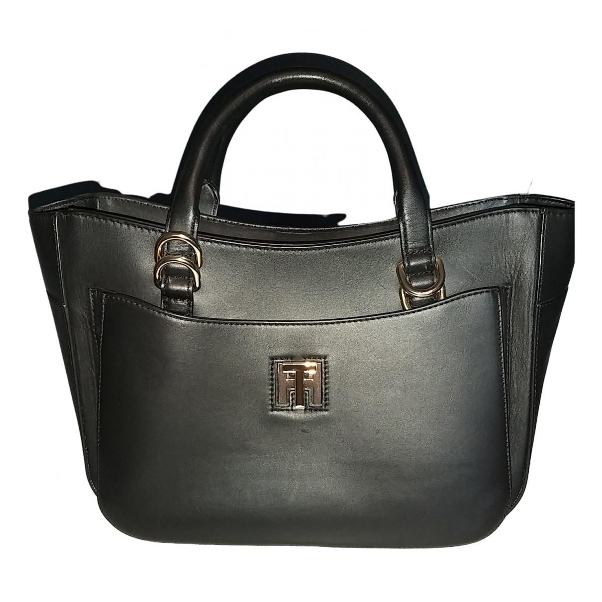 Tommy Hilfiger N Black Leather handbag for Women N