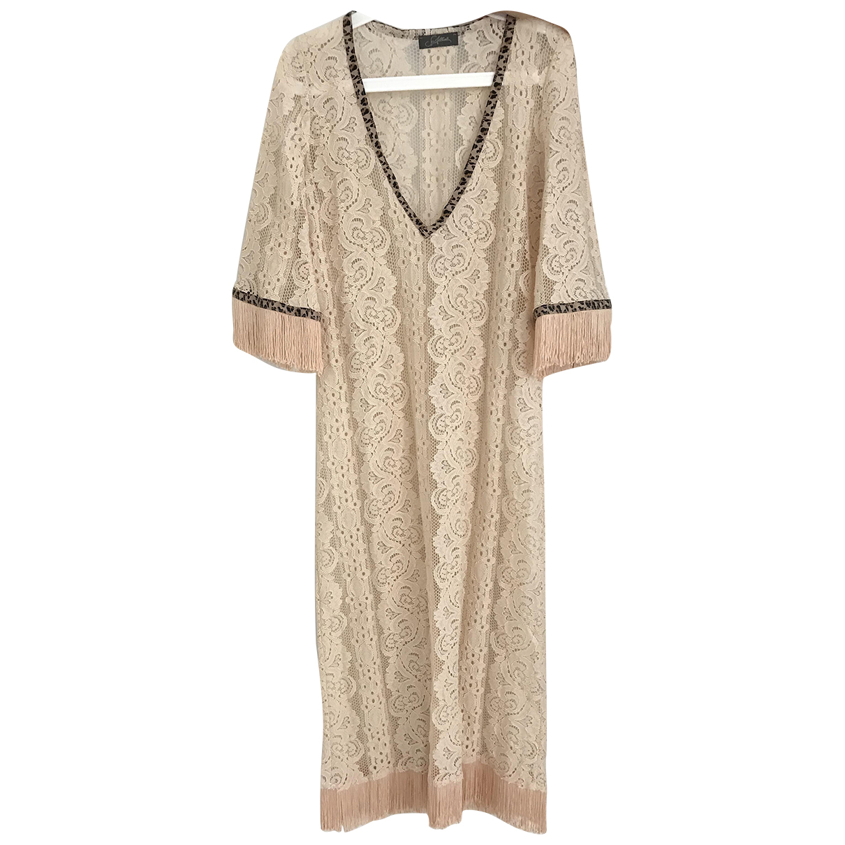 Non Signe / Unsigned Oversize Kleid in  Rosa Polyester