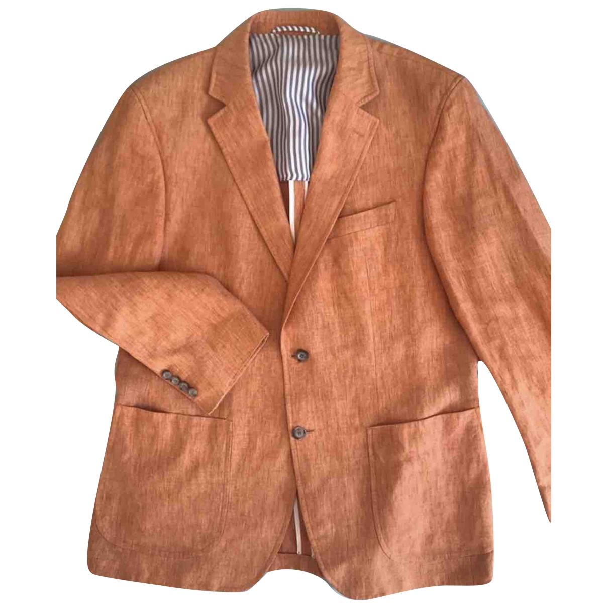 Pierre Cardin \N Jacke in  Orange Leinen