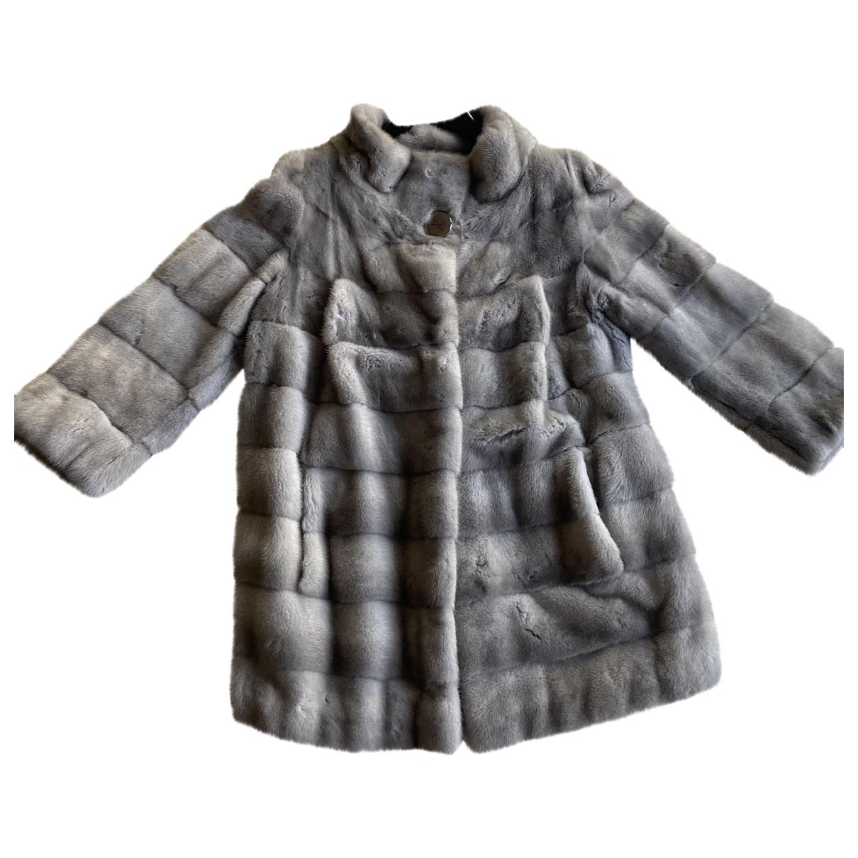 Simonetta Ravizza - Manteau   pour femme en vison - gris