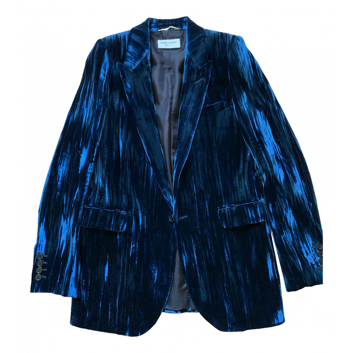Saint Laurent \N Blue jacket for Women 36 FR