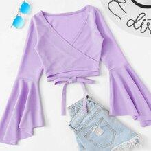 Surplice Lilac Purple Crop Top