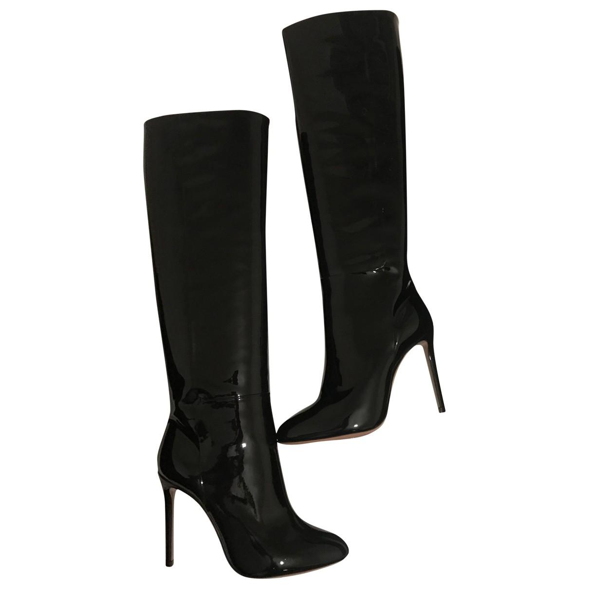 Aquazzura \N Black Patent leather Boots for Women 36.5 EU