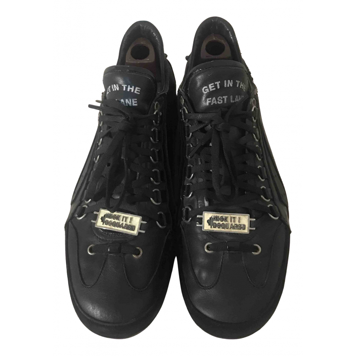 Dsquared2 \N Sneakers in  Schwarz Leder