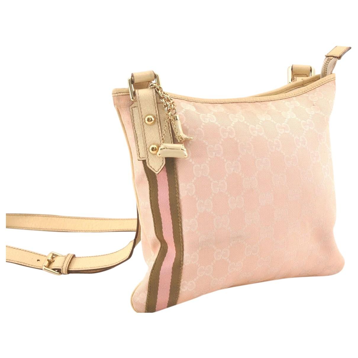 Gucci \N Handtasche in  Rosa Baumwolle