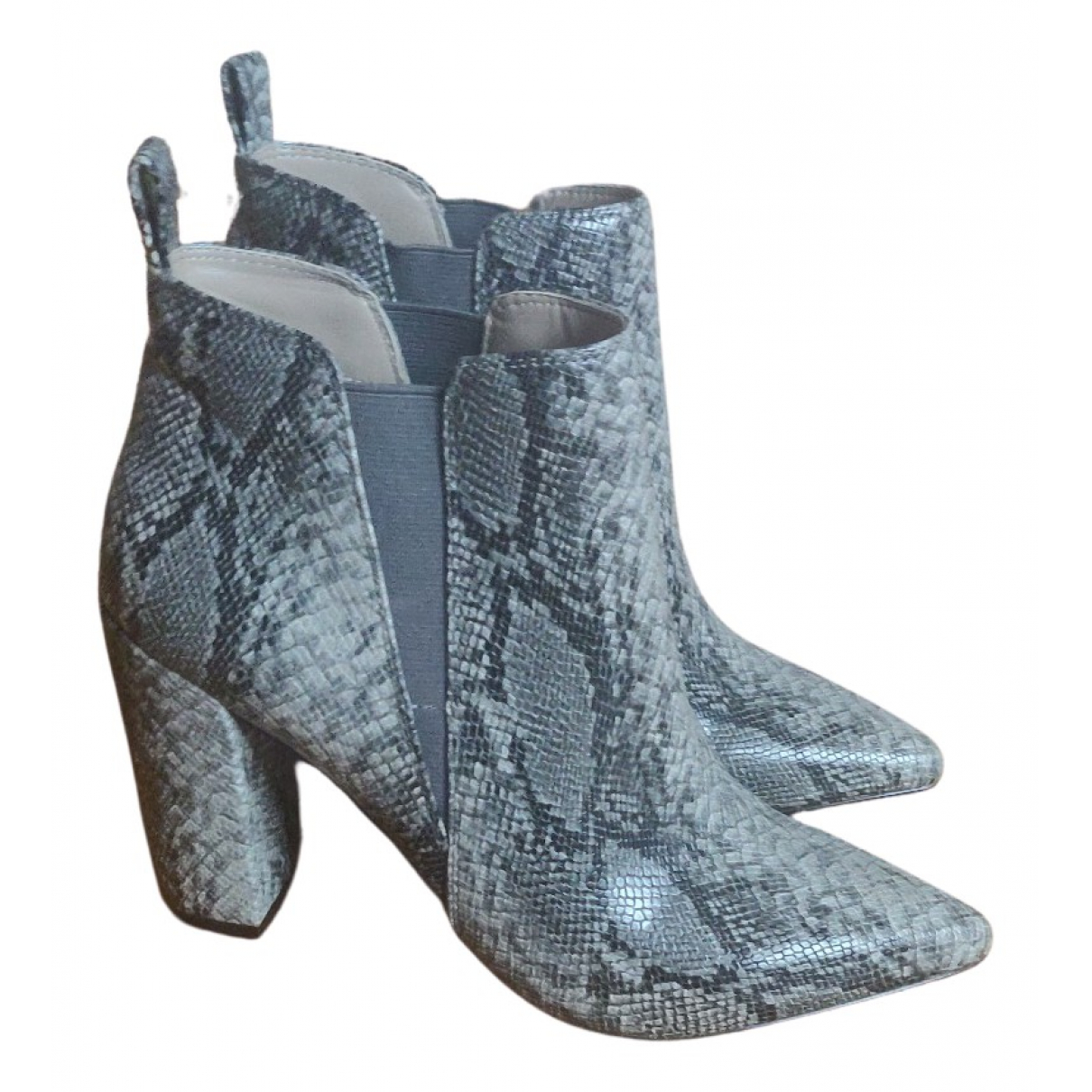 Bcbg Max Azria N Grey Leather Ankle boots for Women 8 US
