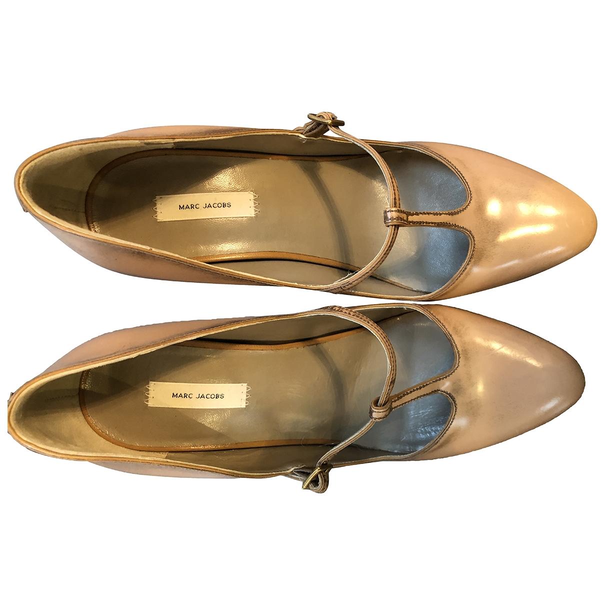 Marc Jacobs - Escarpins   pour femme en cuir - beige
