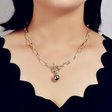 Round Ball Pendant Chain Necklace