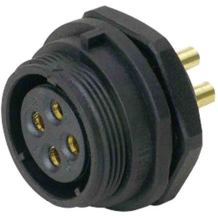 RS PRO Circular Connector, 9 contacts Bulkhead Mount Plug, Solder IP68