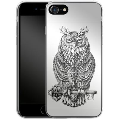 Apple iPhone 7 Silikon Handyhuelle - Great Horned Owl von BIOWORKZ