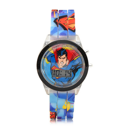 Supergirl Boys Digital Blue Strap Watch-Sup4312jc, One Size , No Color Family