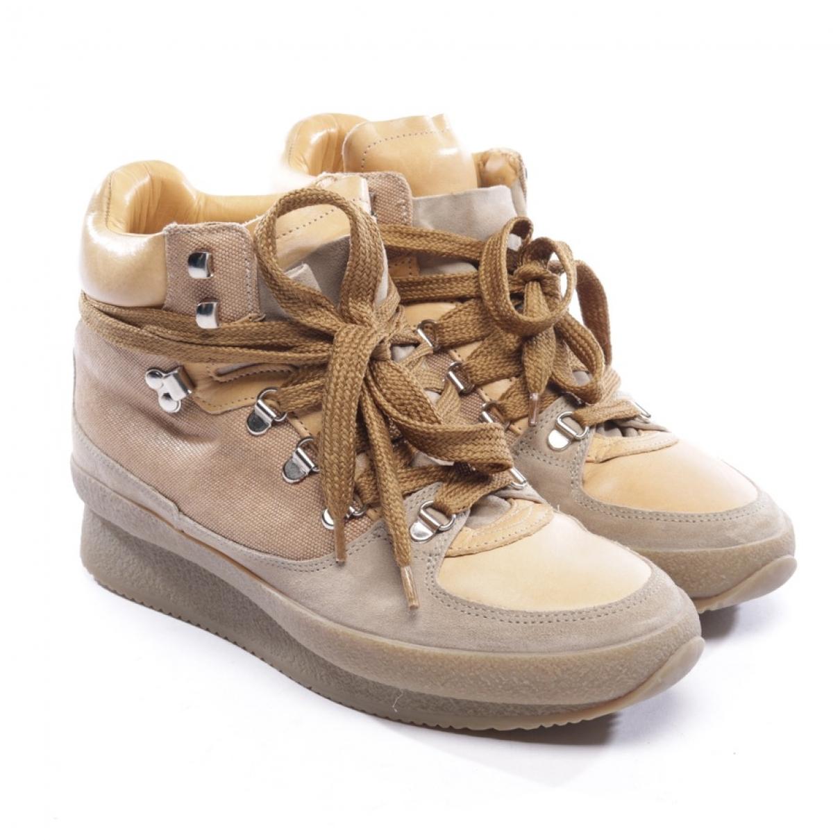 Isabel Marant Etoile \N Sneakers in  Beige Leder