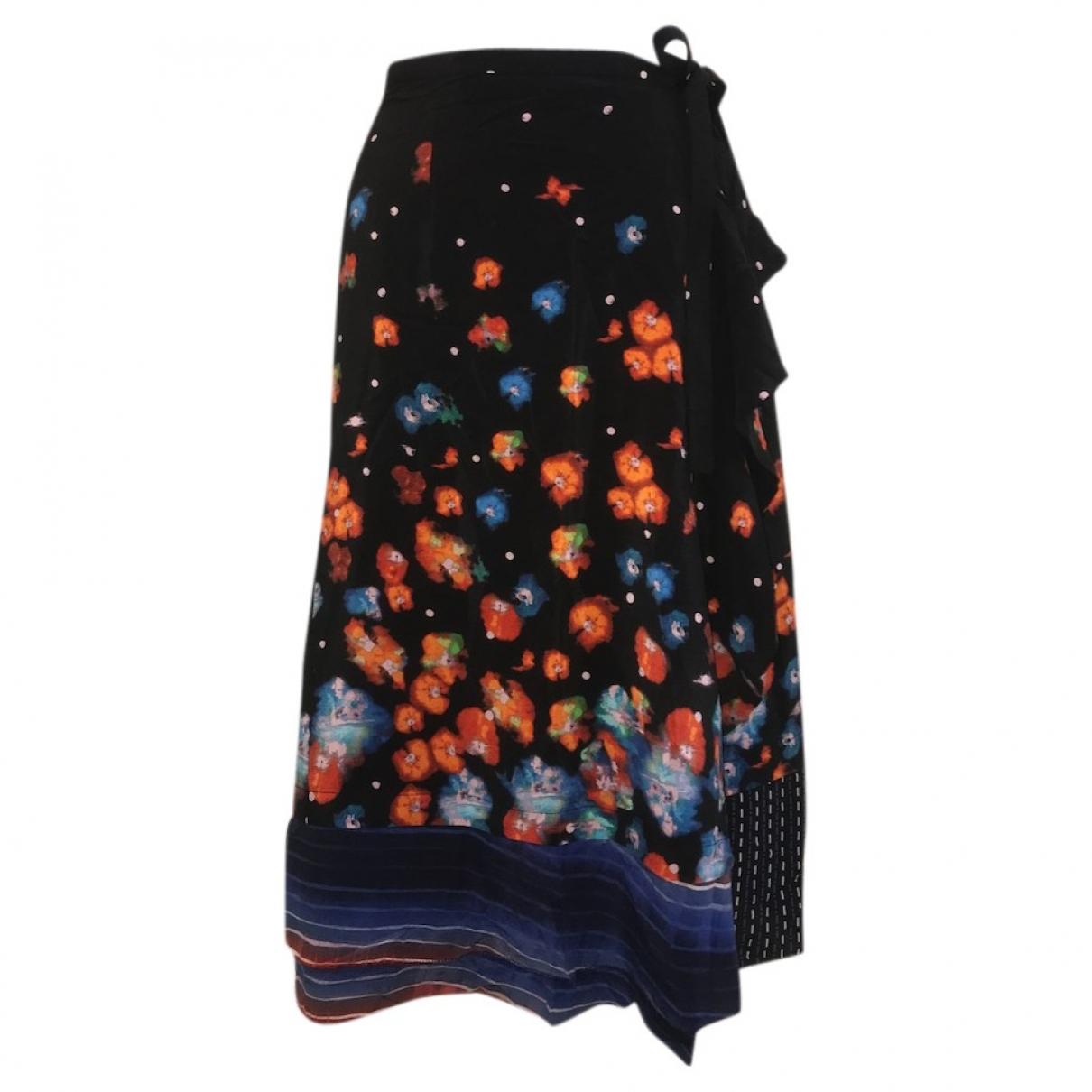 Falda midi de Seda Suno
