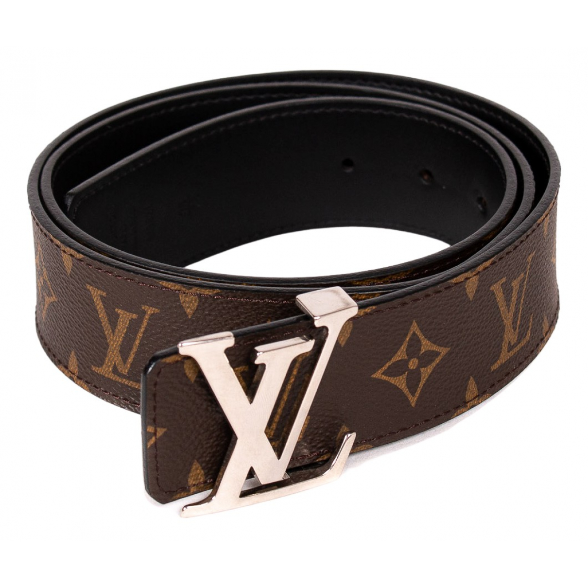 Louis Vuitton Shape Brown Cloth belt for Men 95 cm