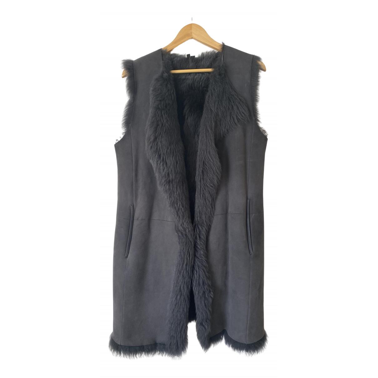 Theory - Manteau   pour femme en mouton - gris
