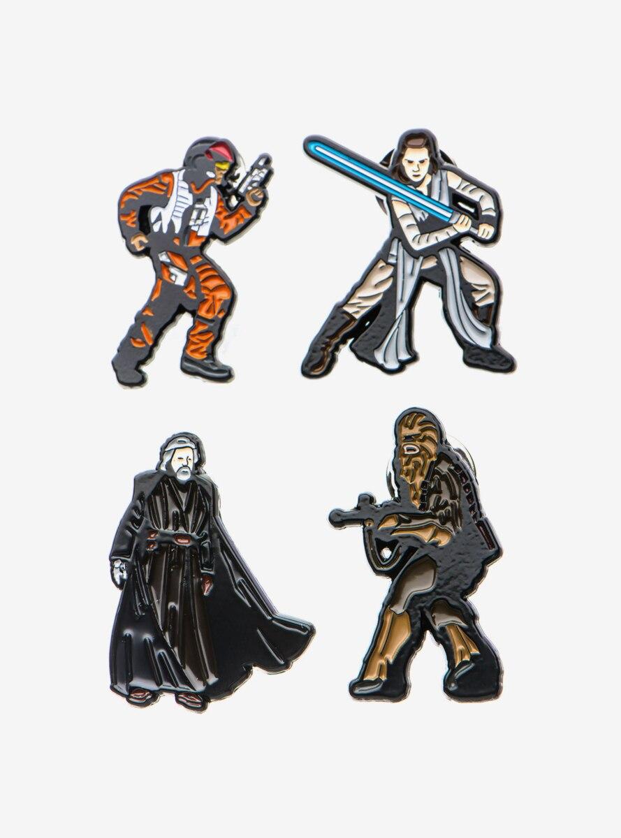 Star Wars Episode 8 Four Piece Enamel Pin Set