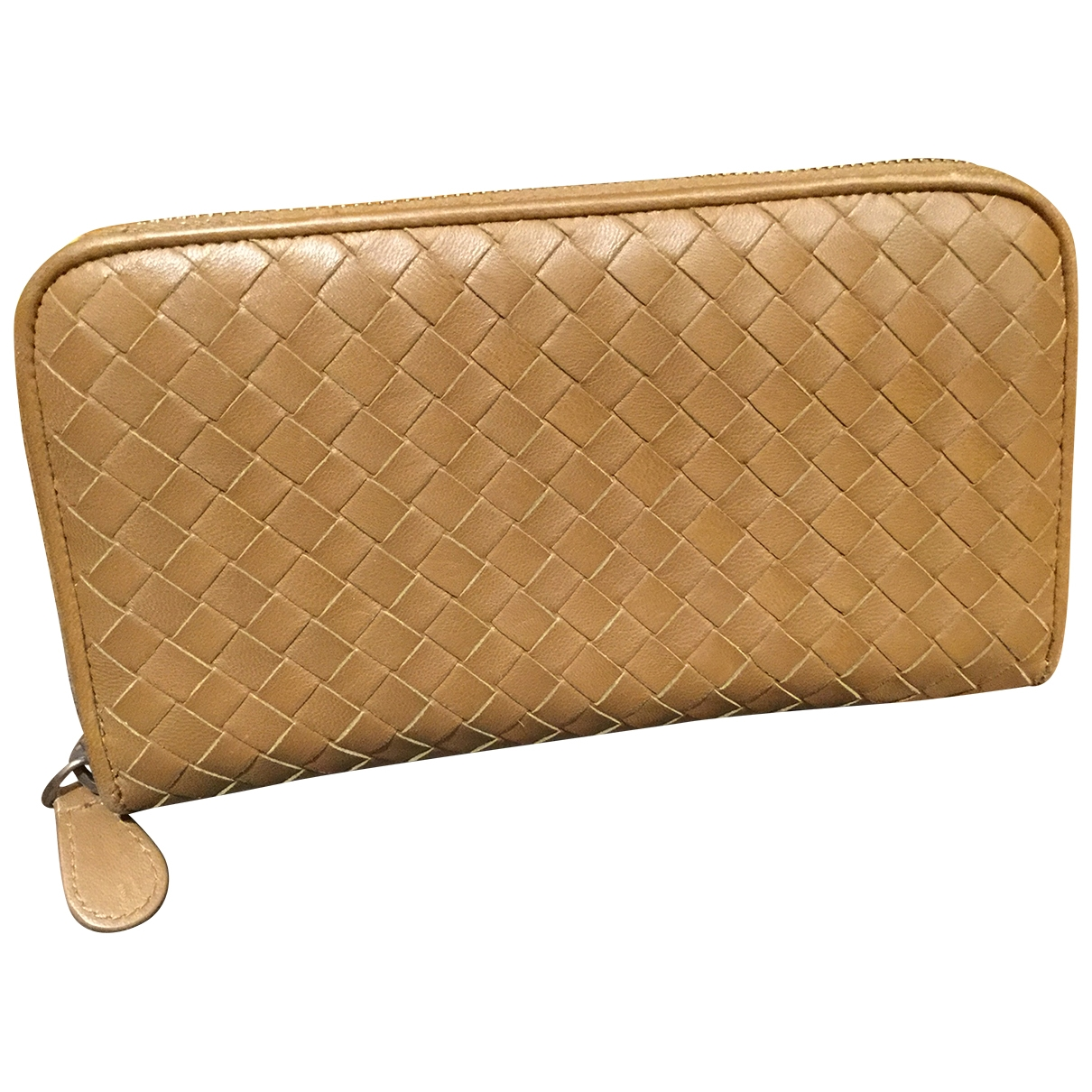 Bottega Veneta - Portefeuille Intrecciato pour femme en cuir - marron