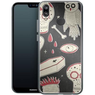 Huawei P20 Lite Silikon Handyhuelle - Halloween Essentials von caseable Designs