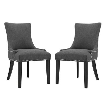 Marquis Collection EEI-2746-GRY-SET Dining Side Chair Fabric Set of 2 in Gray