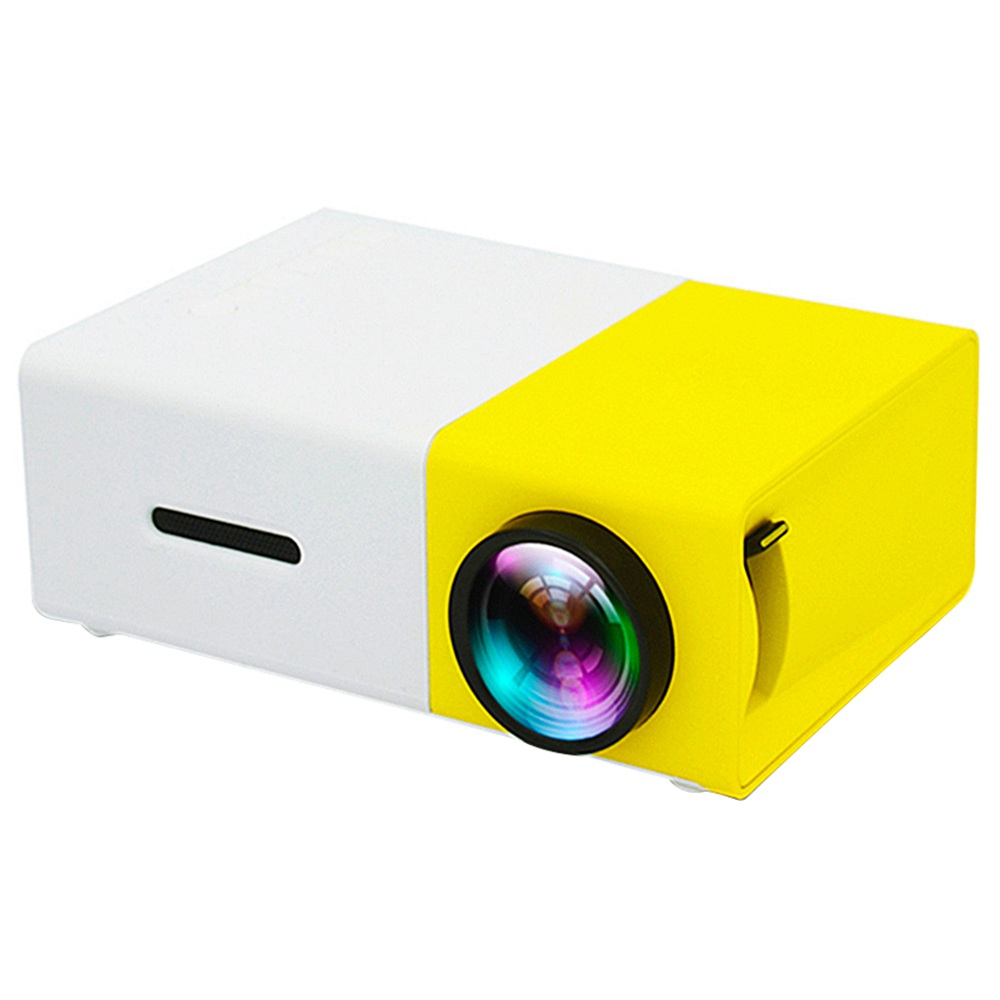 YG300 Mini LED Projector Native320x240P Support 1080P 600LM - Yellow + White