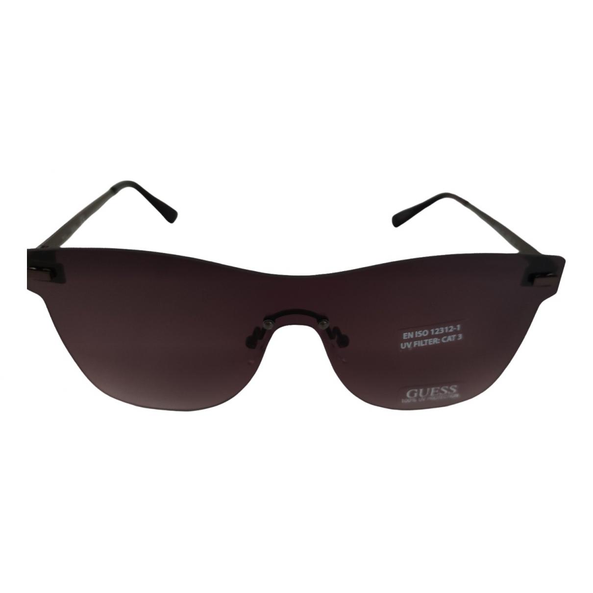 Guess \N Brown Metal Sunglasses for Men \N