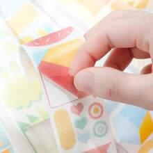 1 Blatt Aufkleber mit geometrischem Muster