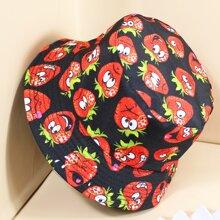 Sombrero cubo con estampado de fresa