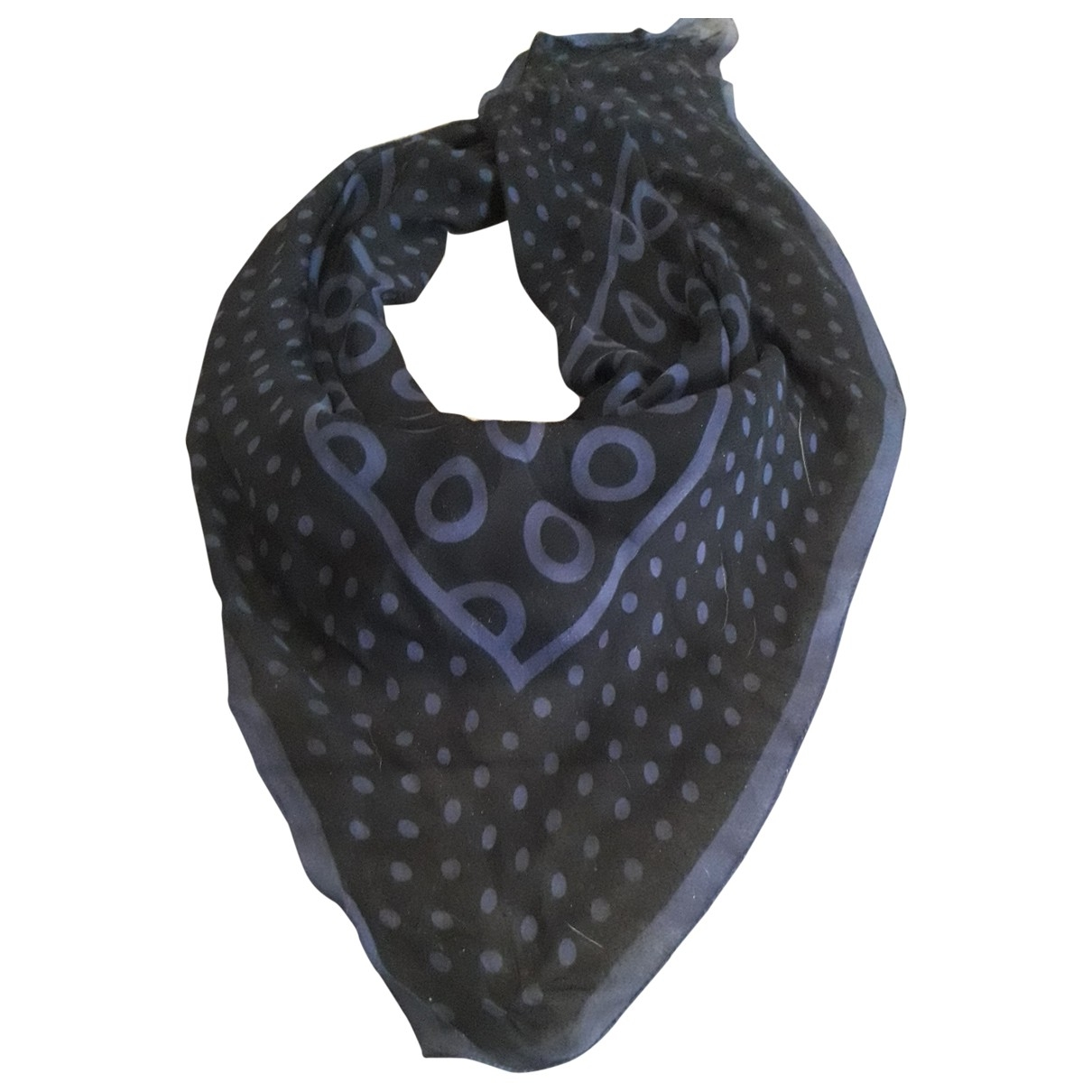 Louis Vuitton \N Blue Silk scarf for Women \N