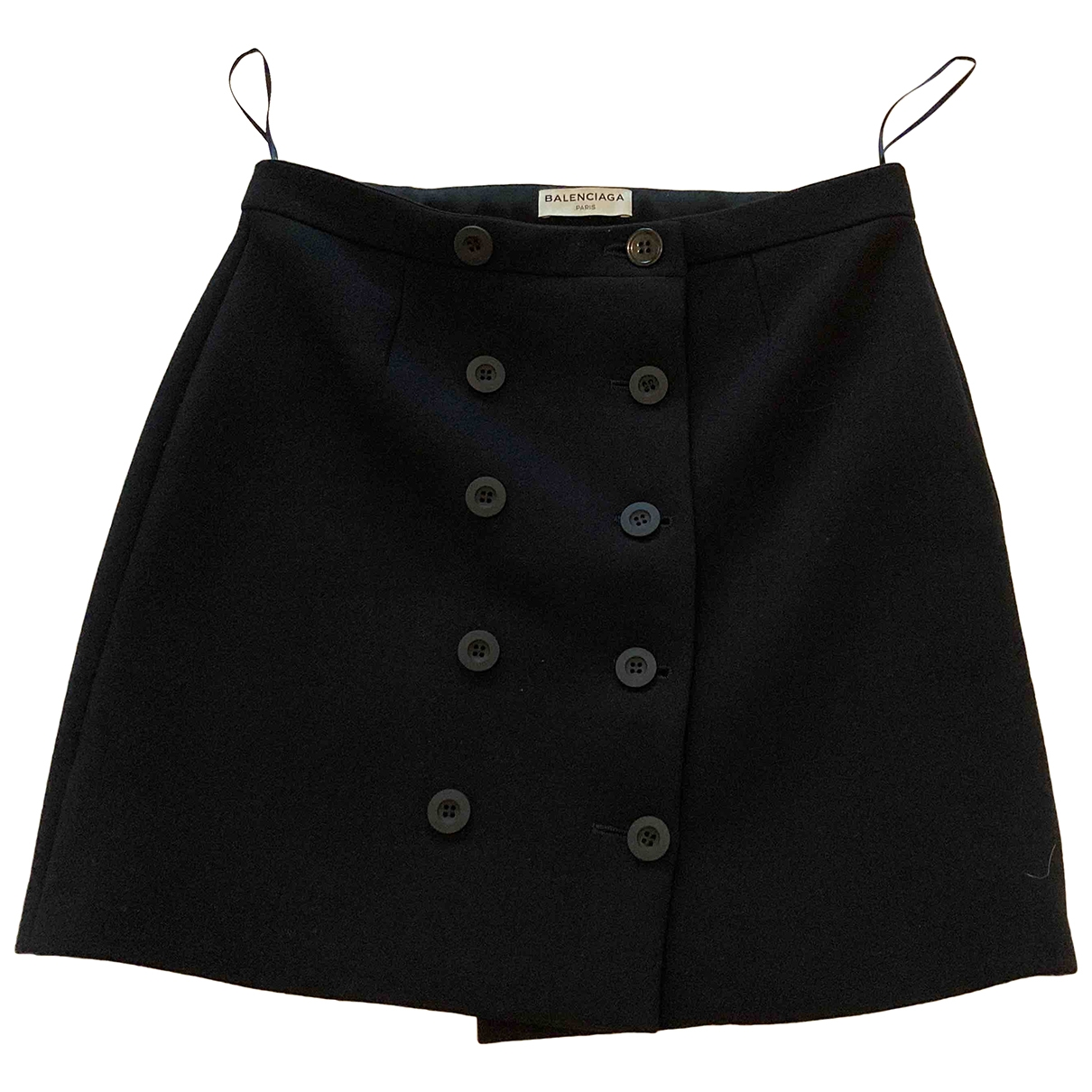 Balenciaga \N Black Wool skirt for Women 40 IT