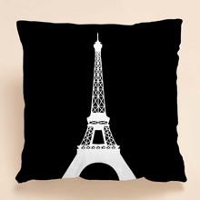 Tower Print Cushion Cover Without Filler