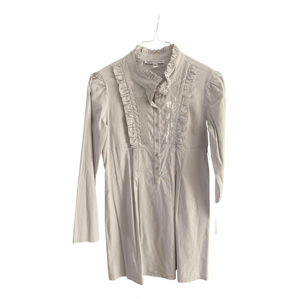 Patrizia Pepe \N Kleid in  Grau Baumwolle