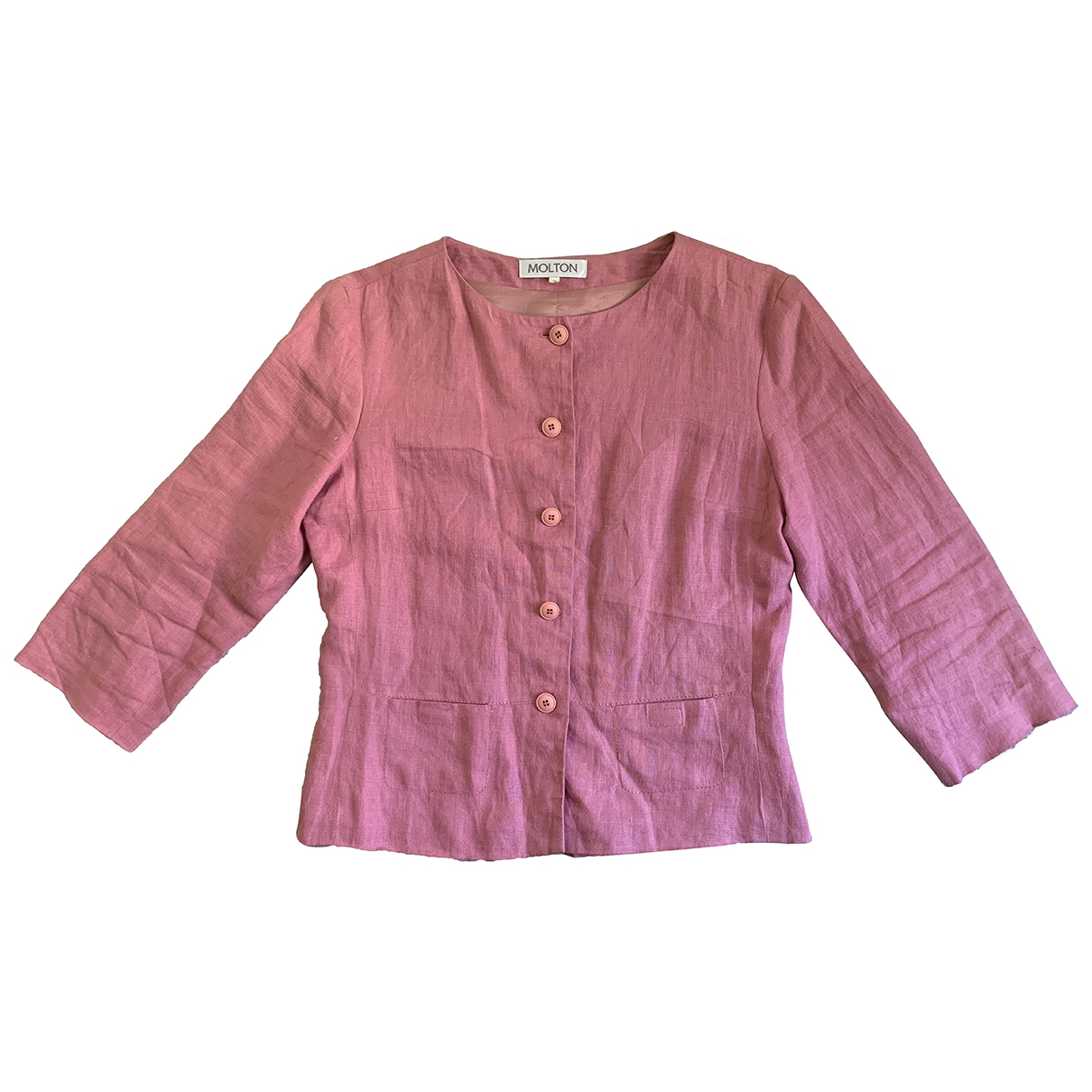 Non Signé / Unsigned \N Pink Linen jacket for Women S International