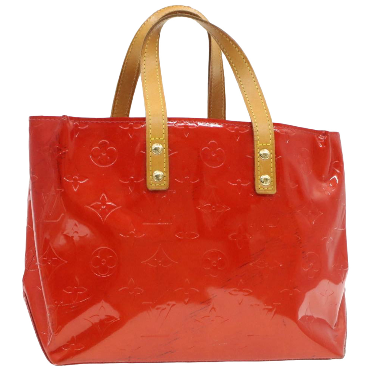 Louis Vuitton Reade Red Patent leather handbag for Women N