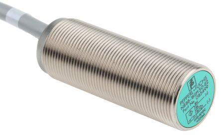 Pepperl + Fuchs M18 x 1 Inductive Sensor - Barrel, PNP-NO Output, 8 mm Detection, IP67, Cable Terminal