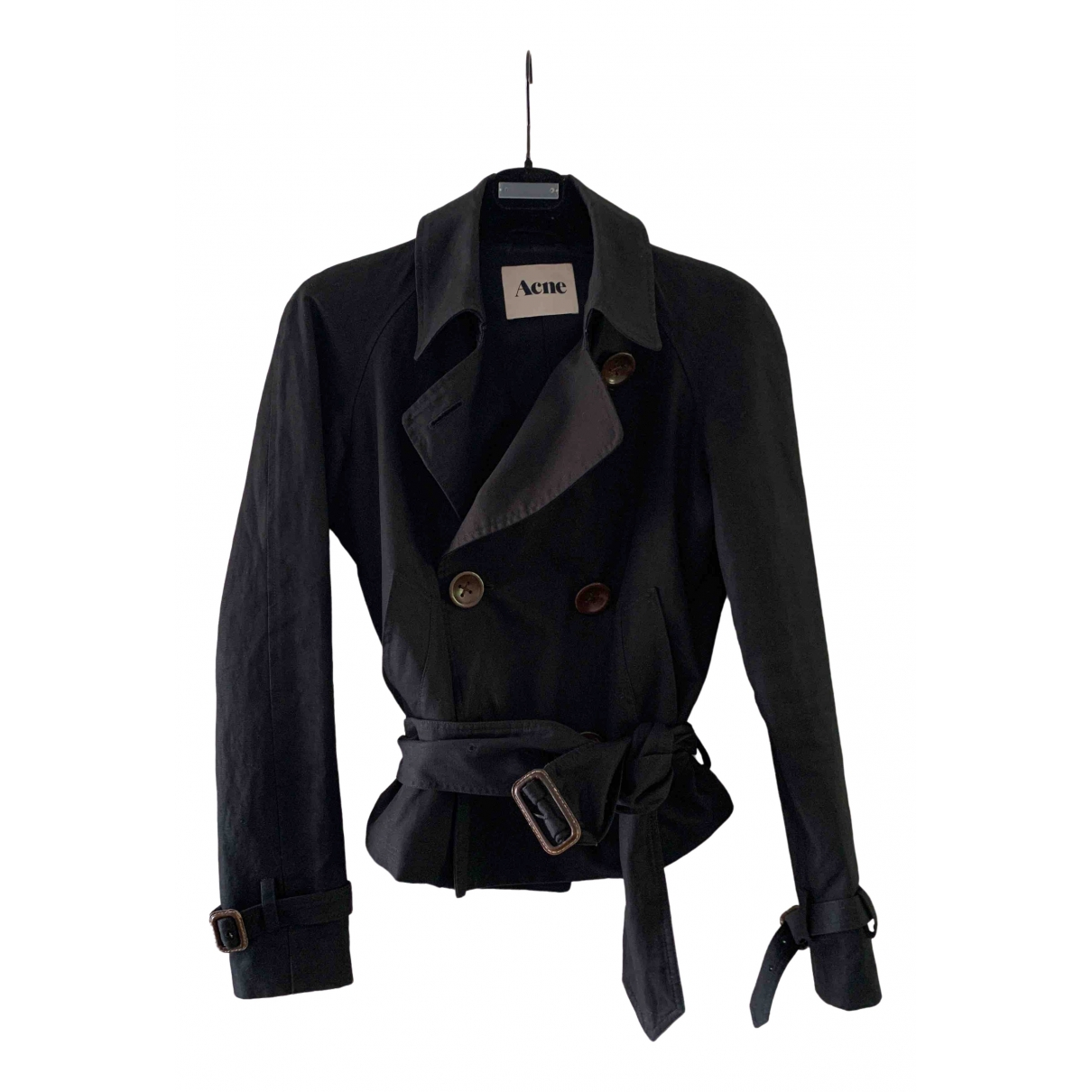 Acne Studios \N Black Cotton jacket for Women 36 FR