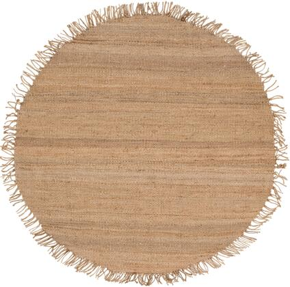 Jute JUTE NATURAL 6' Round Cottage Rug in