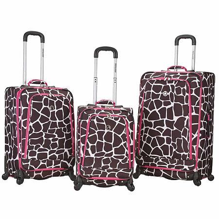 Rockland Fusion 3-pc. Hardside Luggage Set, One Size , Pink