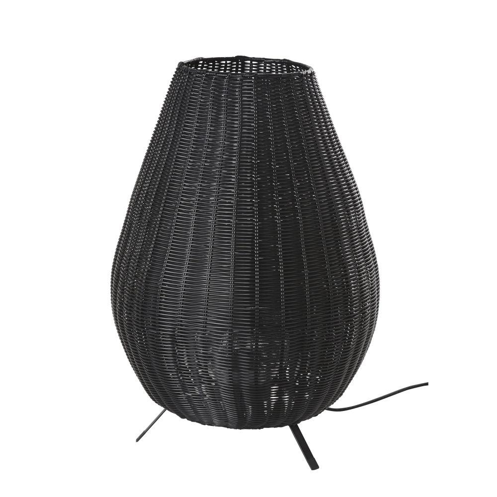Geflochtene Outdoor-Lampe, schwarz H60