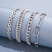 Guys 4pcs Chain Bracelet