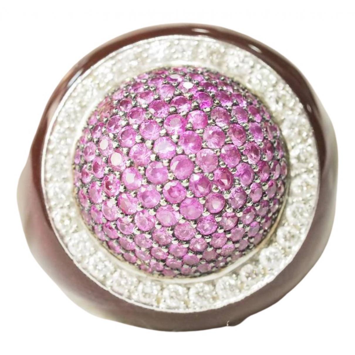 - Bague Saphir pour femme en or blanc - violet