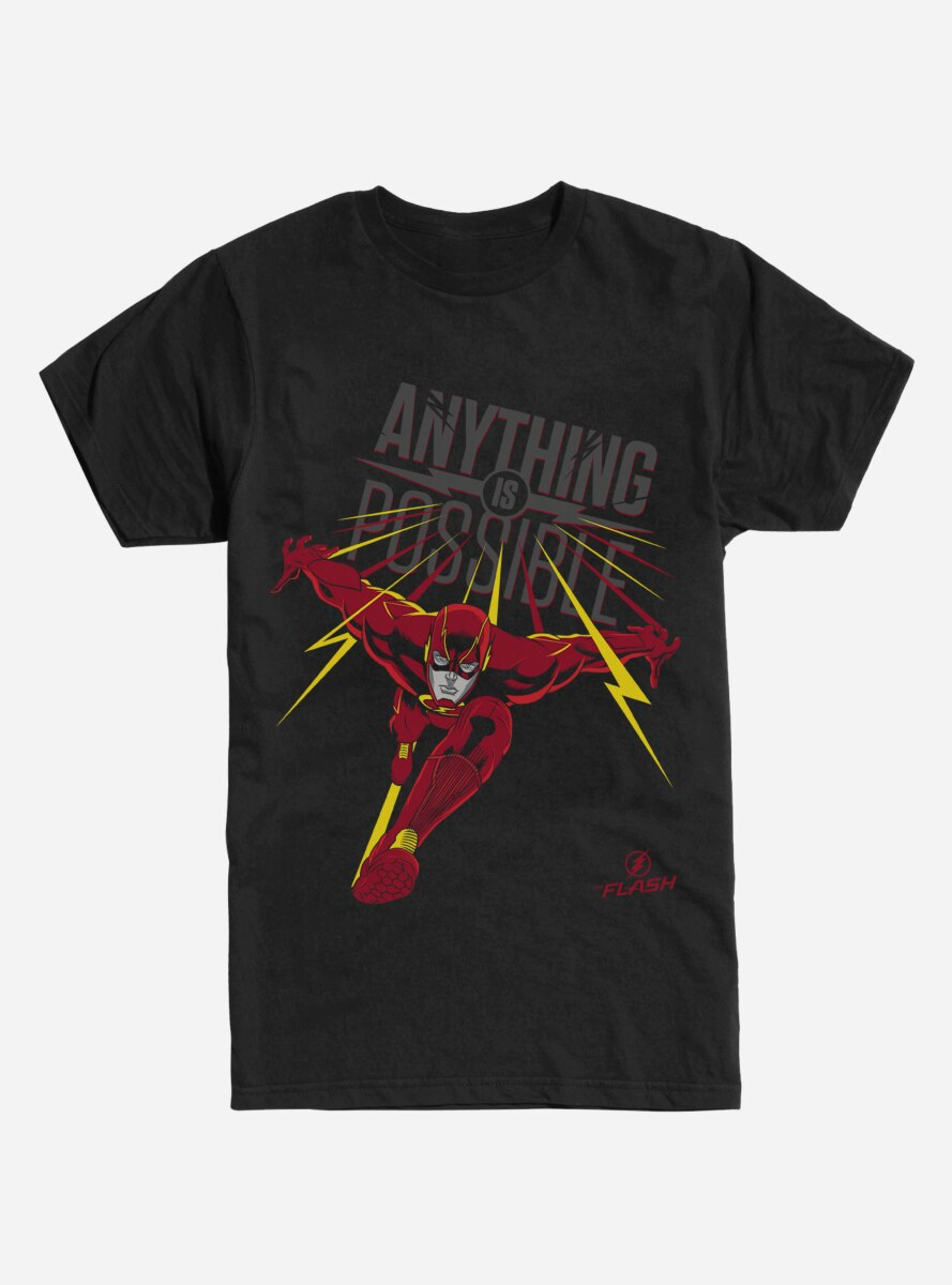 DC Comics The Flash Anything is Possible Font T-Shirt