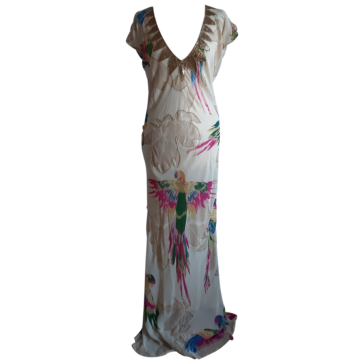 Matthew Williamson \N Beige Silk dress for Women 12 UK