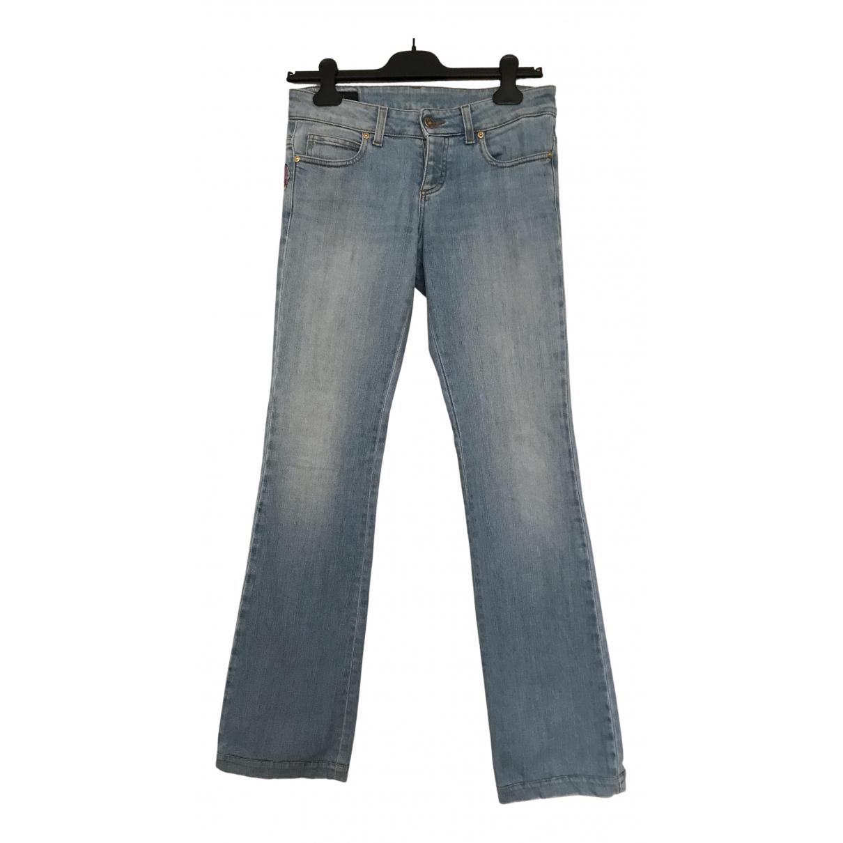 Gucci - Jean   pour femme en coton - elasthane - bleu
