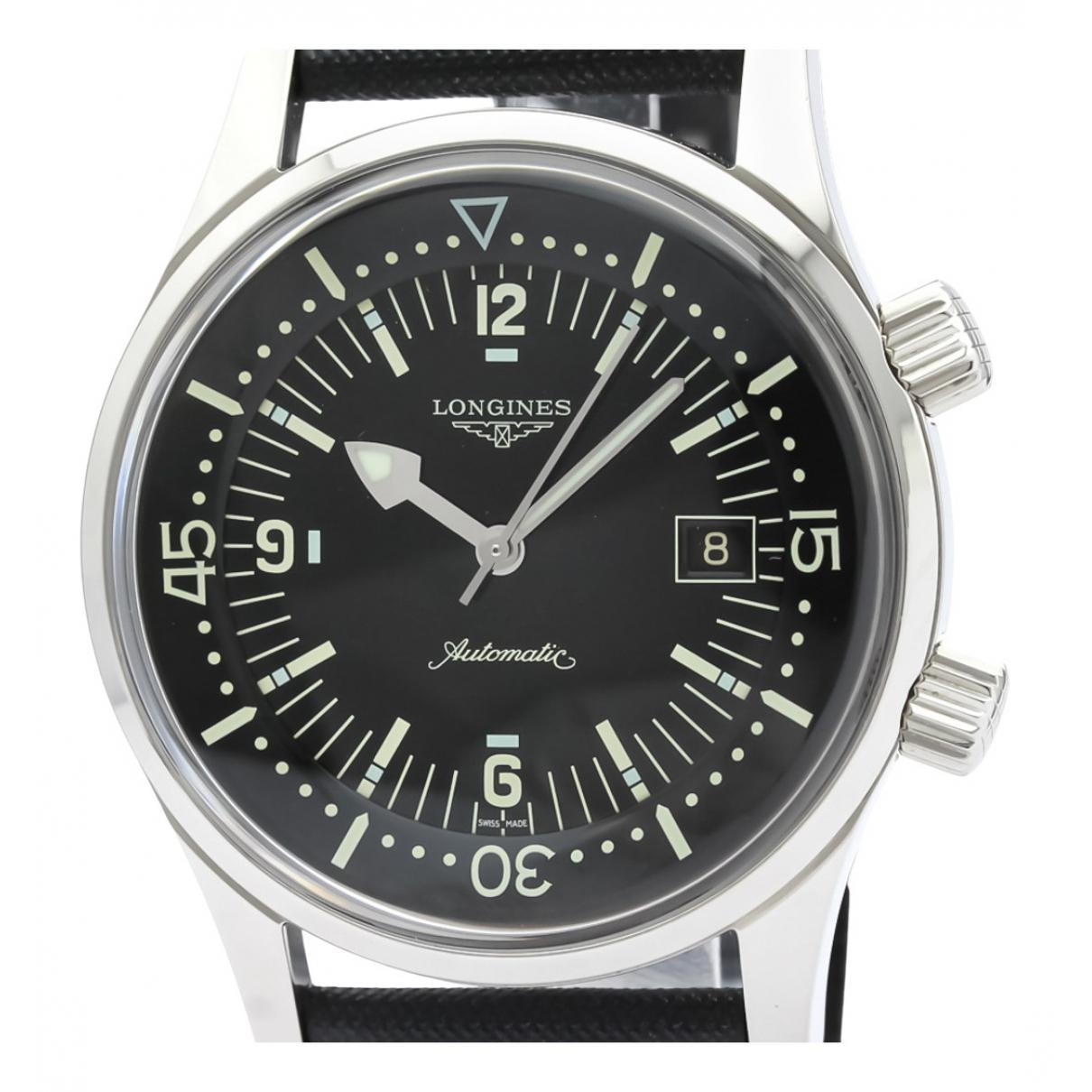 Longines \N Uhr in  Schwarz Stahl