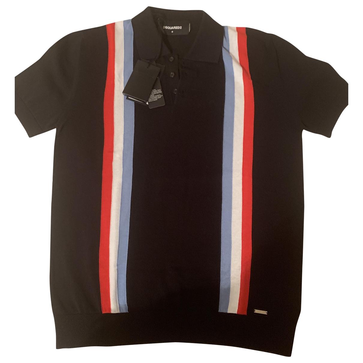 Dsquared2 - Polos   pour homme en coton - noir